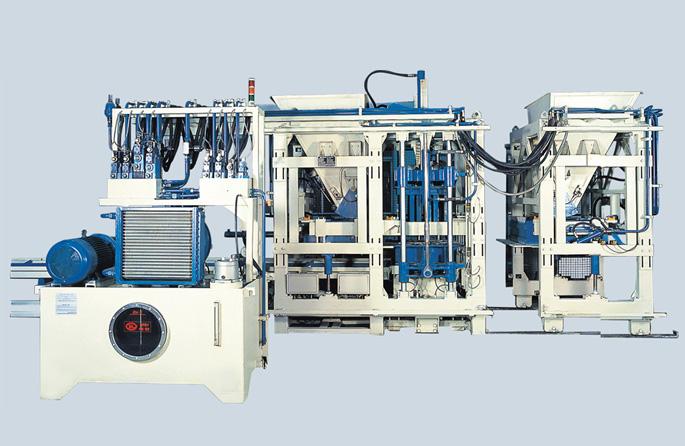 银马智能:国内研发的免烧砌块砖机