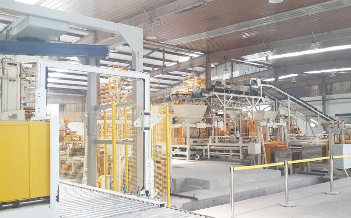 智能砌块砖机厂家提供人造石材全自动生产线设备
