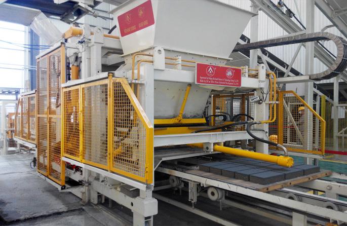 银马水泥砌块制砖机十余年运行质量如新