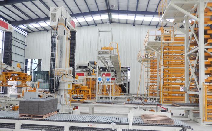 全自动双机并列透水砖机生产线建厂解决方案