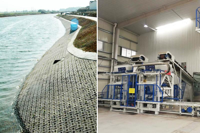 河道护坡砖机厂家分享生态护坡的重要性