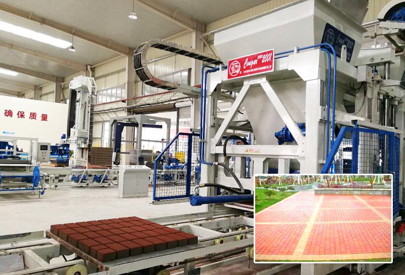 广场砖制砖机是建材行业持续发展的有效途径