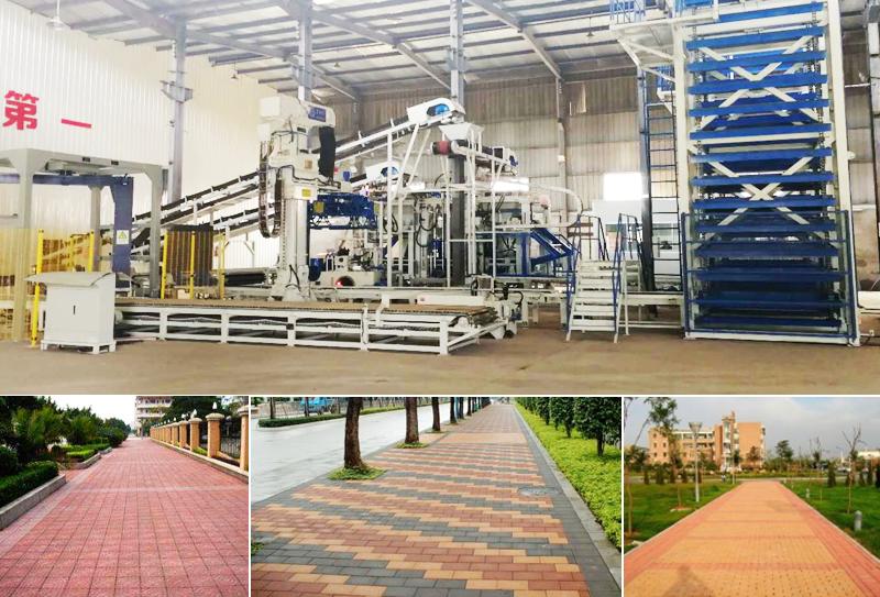 路面砖生产设备带动绿色墙材的发展