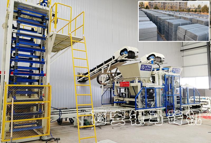路沿石砖机生产线:免烧砖机定制机型走出国内,开拓国际高端市场!