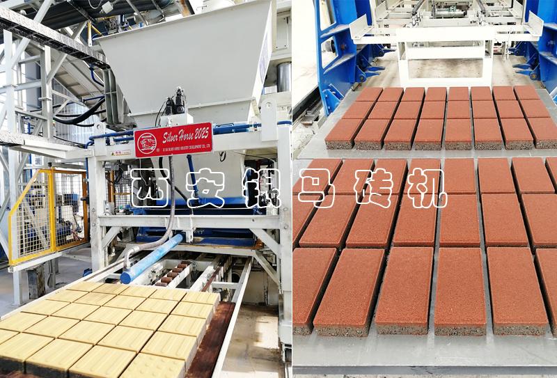 全自动透水砖制砖机生产线运行中注意事项与日常维护