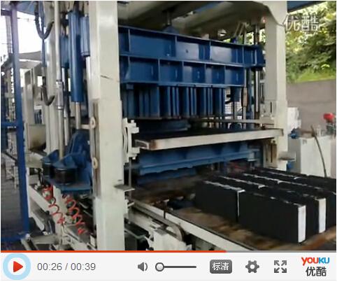 夹聚苯保温砌块成型机生产实拍视频